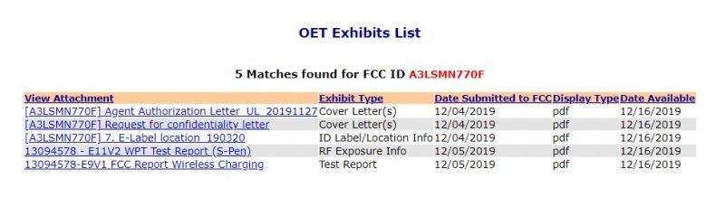 Samsung Galaxy Note 10 FCC onayı